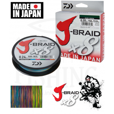 Daiwa J-Braid x8 150 m Multicolor