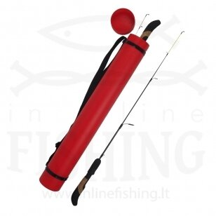 Dėklas teleskopinis Iron Wolf Tūba raudona Ø 8 cm, nuo 62 cm iki 102 cm