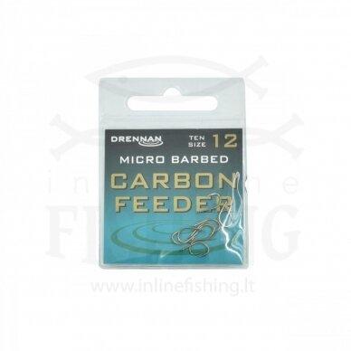 DRENNAN Carbon Feeder kabliukai #12, 10 vnt