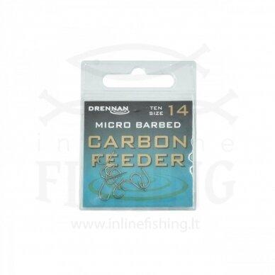DRENNAN Carbon Feeder kabliukai #14, 10 vnt
