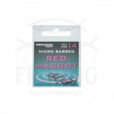 DRENNAN Red Maggot kabliukai #14, 10 vnt