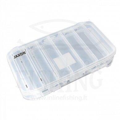 Dvipusė dėžutė JAXON jaukui ir žvejybos reikmenims 20 x 12 x 3,5 cm