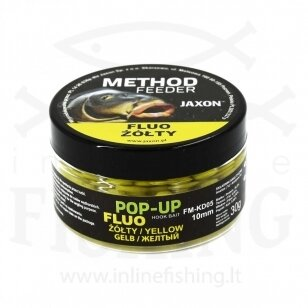 JAXON Fluo Method Feeder Pop-Up BB boiliai 10 mm, 30 g, geltona