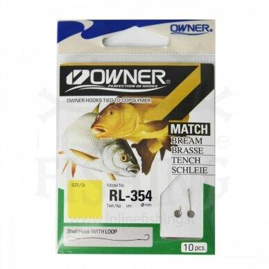 Kabliukai Owner RL354/12 su pavadėliu 70 cm, Ø 0,12 mm, #12, 10 vnt