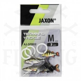 Klasikiniai fiksatoriai Jaxon, dydis M, 3 vnt