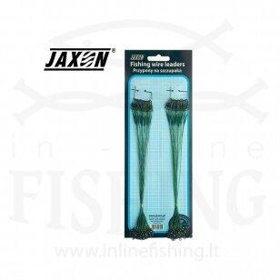 Pavadėliai Jaxon Plieniniai padengti plastiku 30 cm, 8 kg