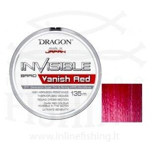 Pintas valas DRAGON INVISIBLE VANISH 135 m Raudonos spalvos