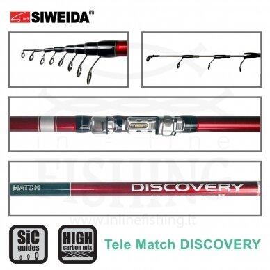 Plūdinė meškerė Siweida Discovery Tele Match 390 IM8 2