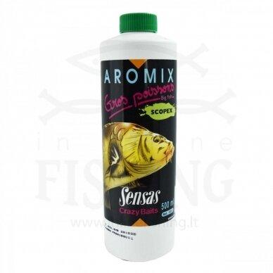 Sensas Aromix Gros Poissons Scopex koncentratas, 500 ml