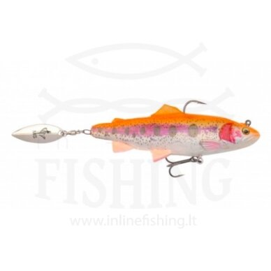 Silikoninis Savage Gear 4D Spin Shad Trout Golden Albino 11 cm, 40 g