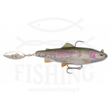 Silikoninis Savage Gear 4D Spin Shad Trout Rainbow Trout 11 cm, 40 g