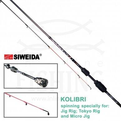 Spiningas Siweida Kolibri 1-11 g, 1,98 m