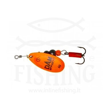 Sukriukė DAM EFFZETT® Fluo Spinner Orange #3, 6 g