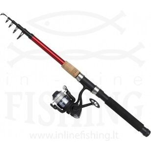 Teleskopinis spiningas DAM Fighter Pro Combo T-Spin 2,40 m, 10-50 g