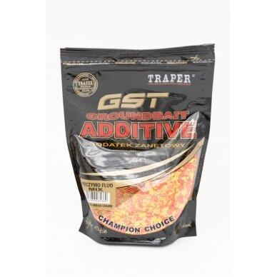 Traper GST Groundbait Additive Mix Fluo bread Crumb (džiuvėsėliai) 400 g